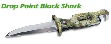 Picture of DROP POINT BLACK SHARK KNIFE