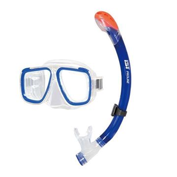 Picture of MASK AND SNORKEL COMBO SET - Clear/Blue